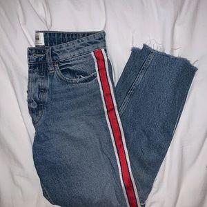 Zara striped jeans size 4